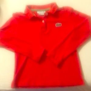 Kids Red Polo Lacoste Shirt
